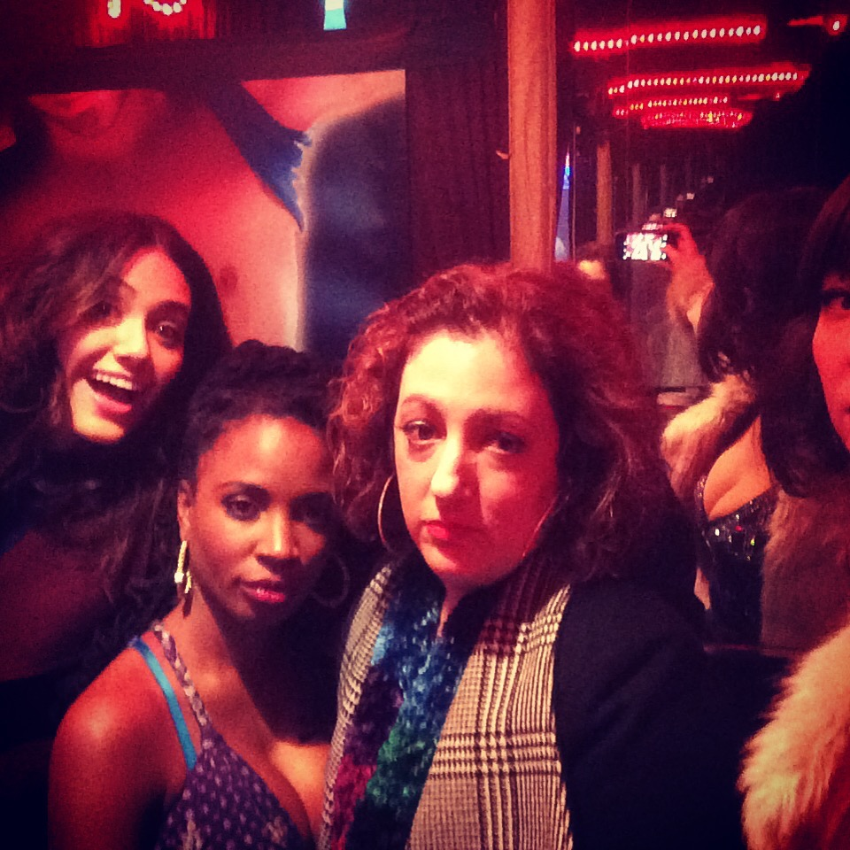 With Emmy Possum, Shanola Hampton, & Isadora Goreshter on Shameless