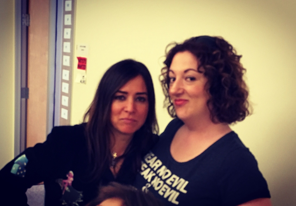 With Pamela Adlon