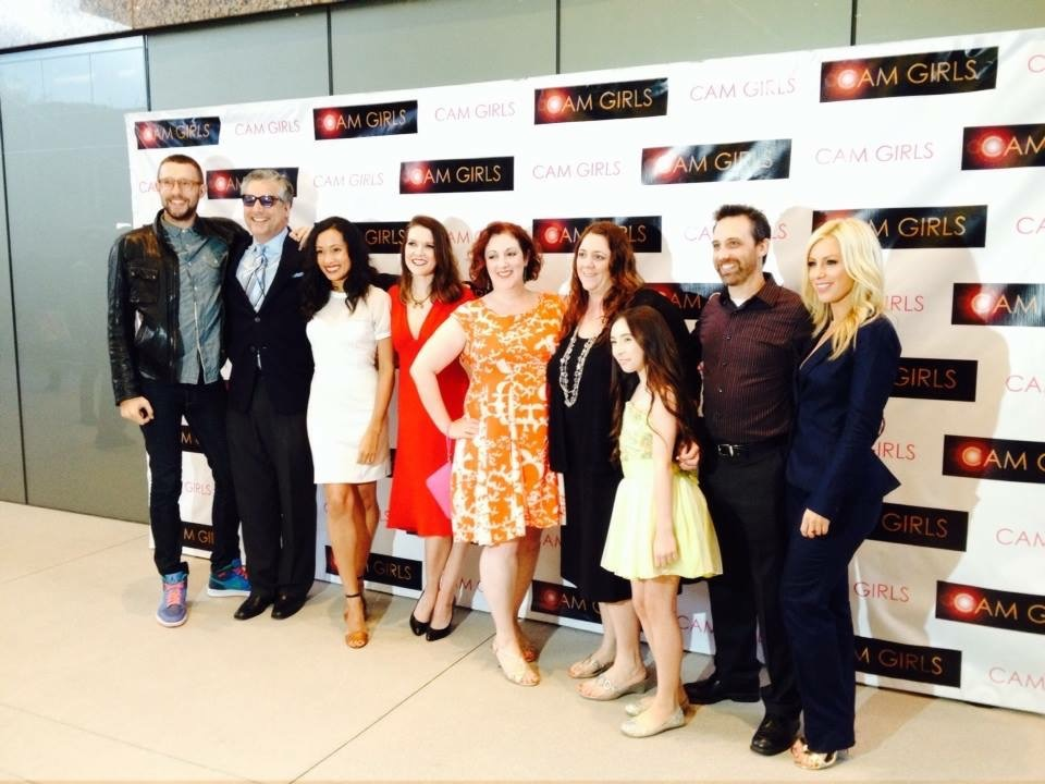 With the cast at Cam Girls premiere