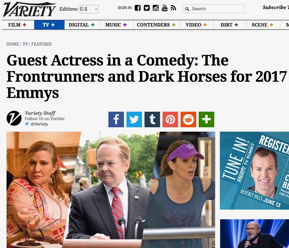 Variety Guest Actress in a Comedy Emmy 2017 Contenders