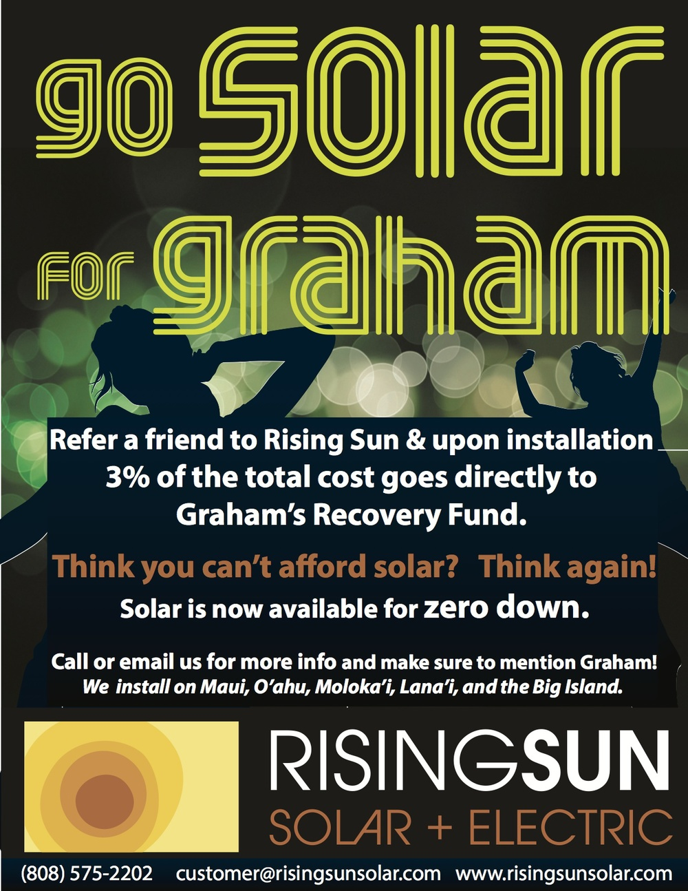 Client: Rising Sun Solar Product: Event Flyer