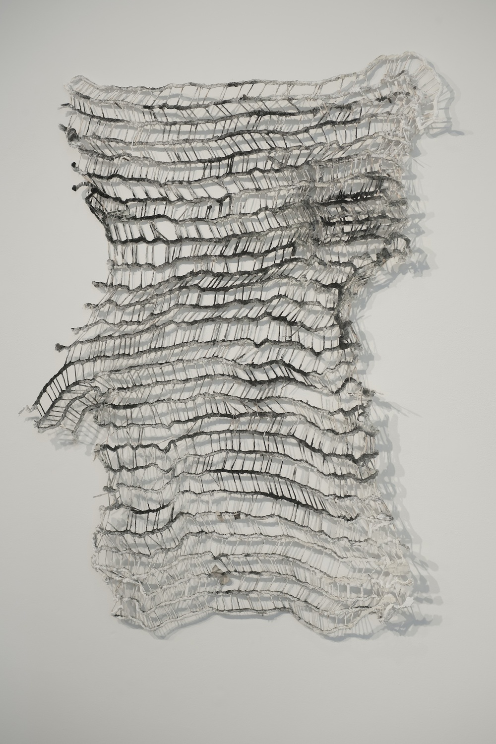 A Year With Utter and Woo,  2013  ,  wood, cotton, plaster, graphite, 46 x 38 x 6 in.