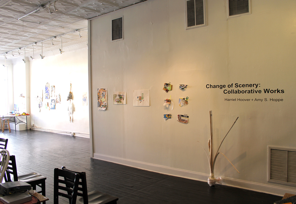 Change of Scenery, Collaborative Works  by Harriet Hoover & Amy S. Hoppe. Installed at The Carrack Modern Art, Durham, NC. February 2015