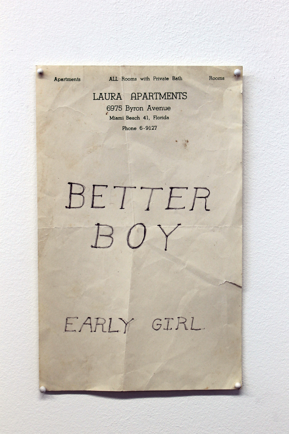 Better Boy, Early Girl