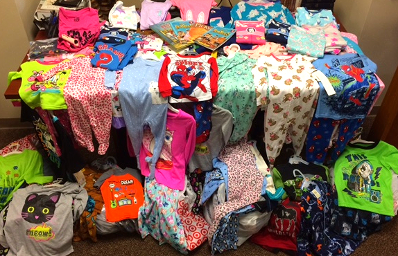 donated pajamas