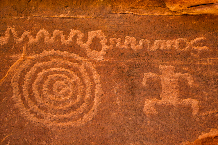 Petroglyphs, Zion NP, Utah