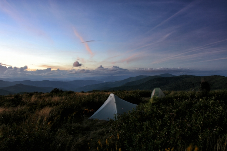 Backpacking on Black Balsam Knob