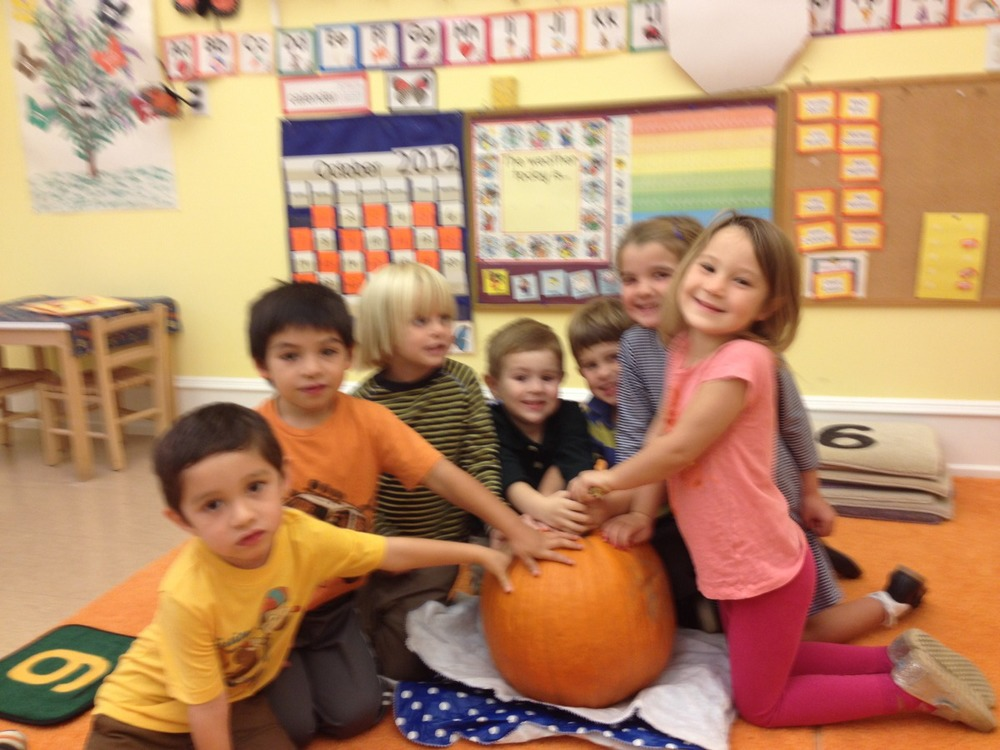 We love our giant pumpkin from Linvilla Orchards.  Thank you, Andrea.