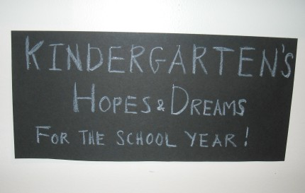 Kindergarten's Hope and Dreams Exhibit
