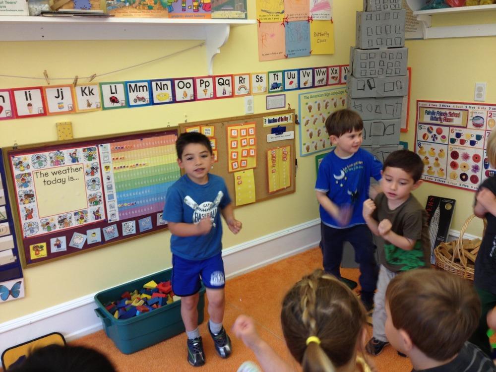 leading morning exercises