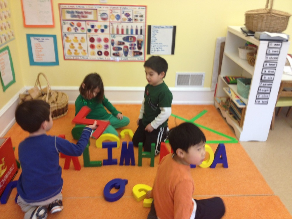 playing with giant letters