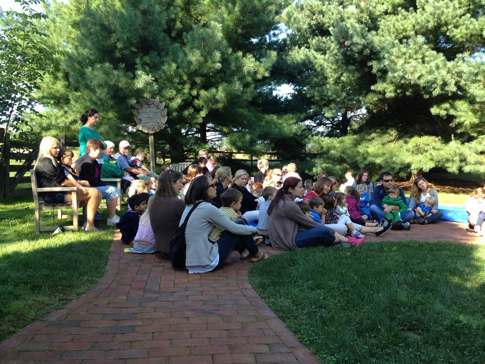 Meeting outside to celebrate International Peace Day