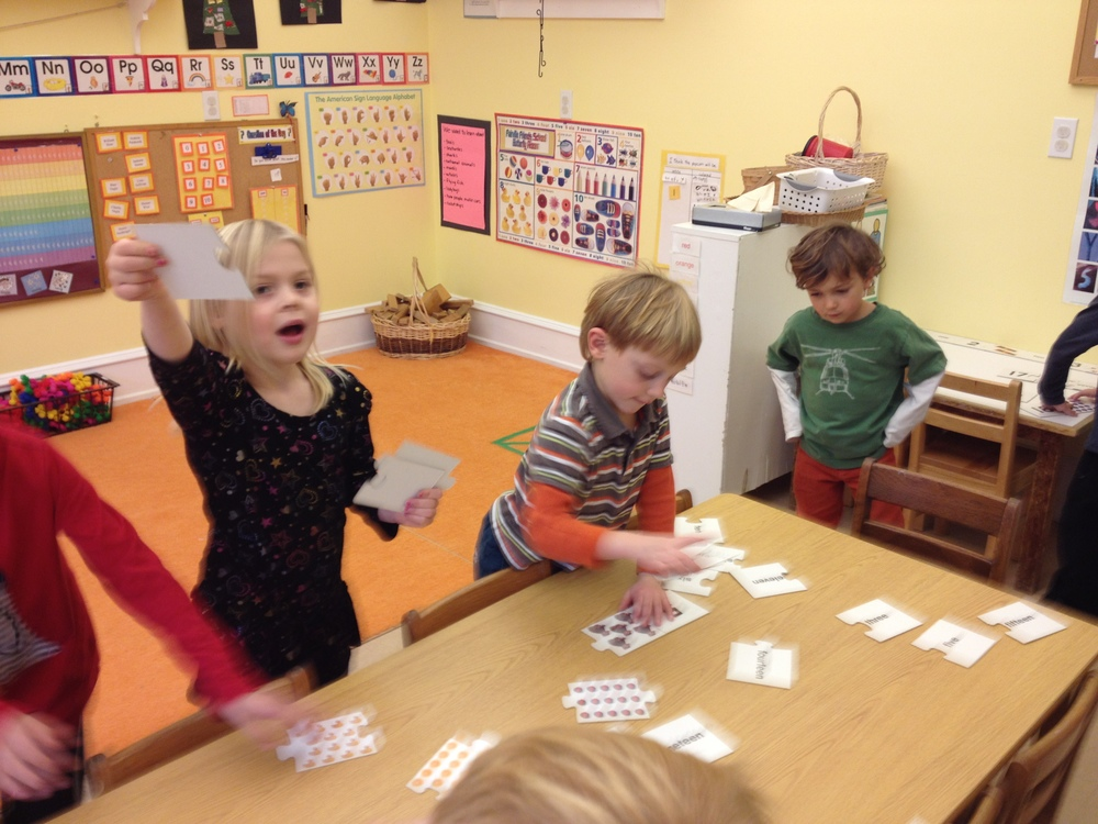 matching numerals and number words
