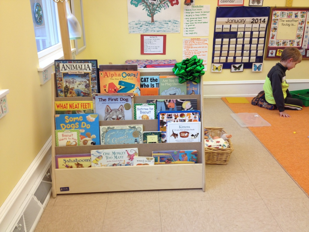 We love our new bookshelf. THANK YOU!!