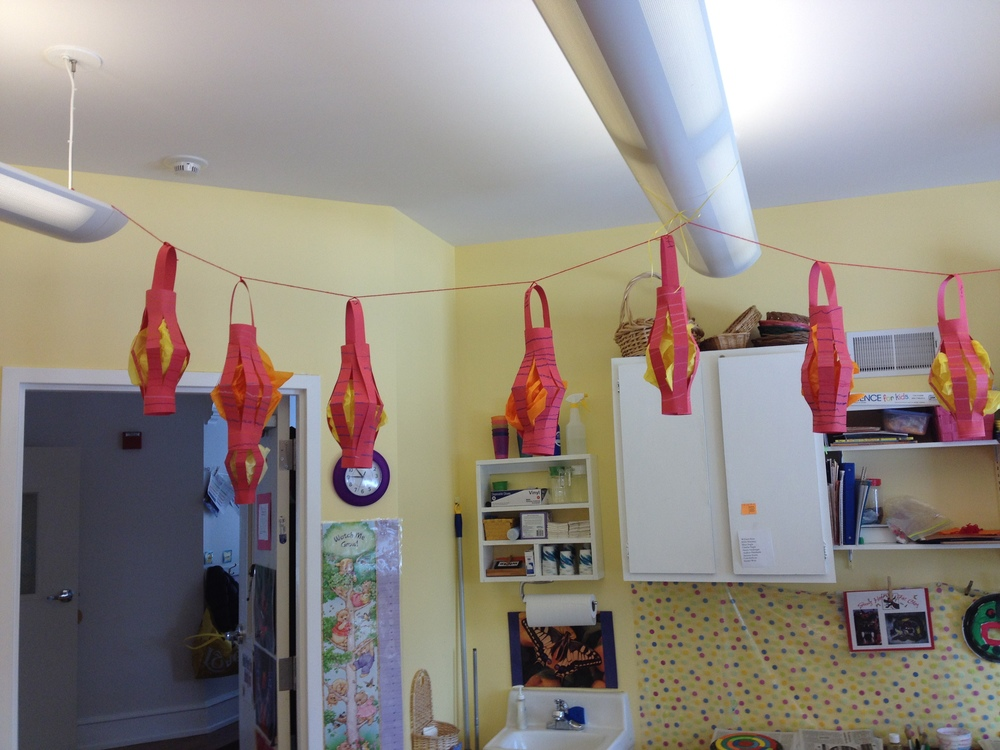We decorated with Chinese lanterns.