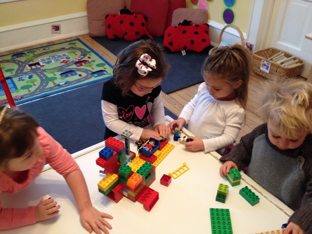 Building with Duplo Blocks and Magformers