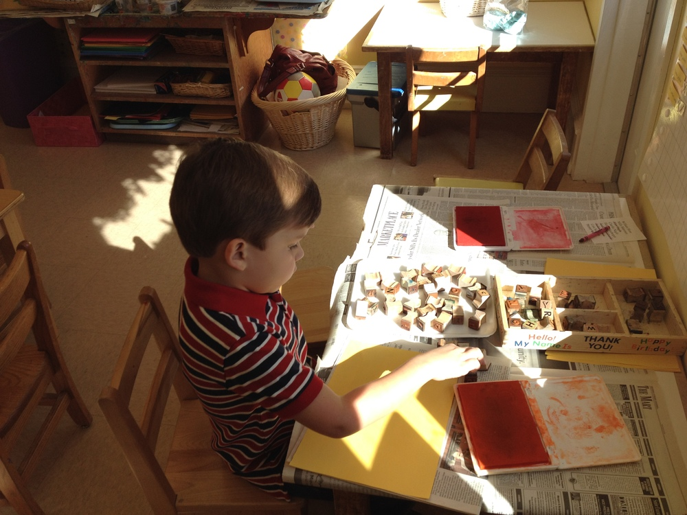 stamping letters