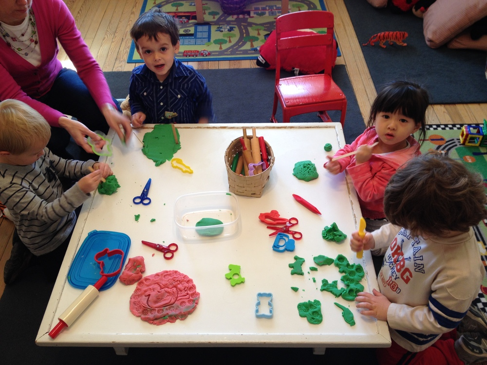 Play dough is always a favorite!