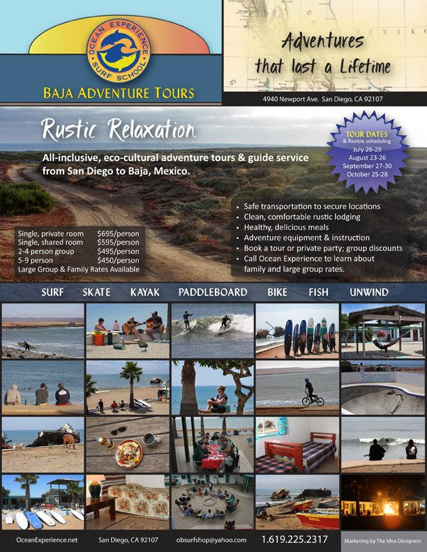 Baja Surf Adventures Flyer