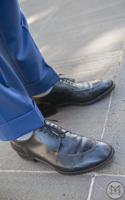 Street Fashion - NGV - Thursday 9th May 2013. Pic shows: DAVID wearing Borrelli