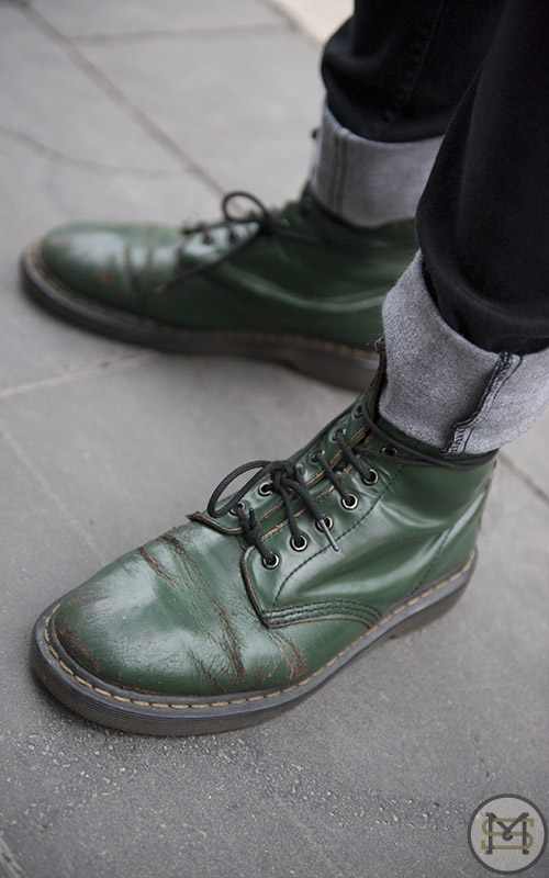 Street Fashion - Bourke Street Mall. Pic shows: JONATHON in Dr Martens