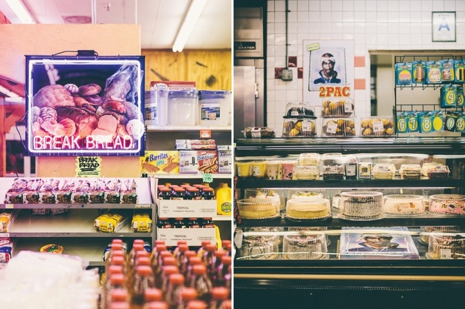 """break bread market installation"" -A one day site specific installation in a market context 2013  - Photos by Brandon Shigeta"