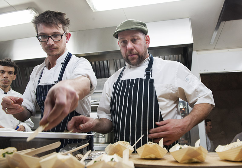 St Ali head chef Andrew Gale (R)