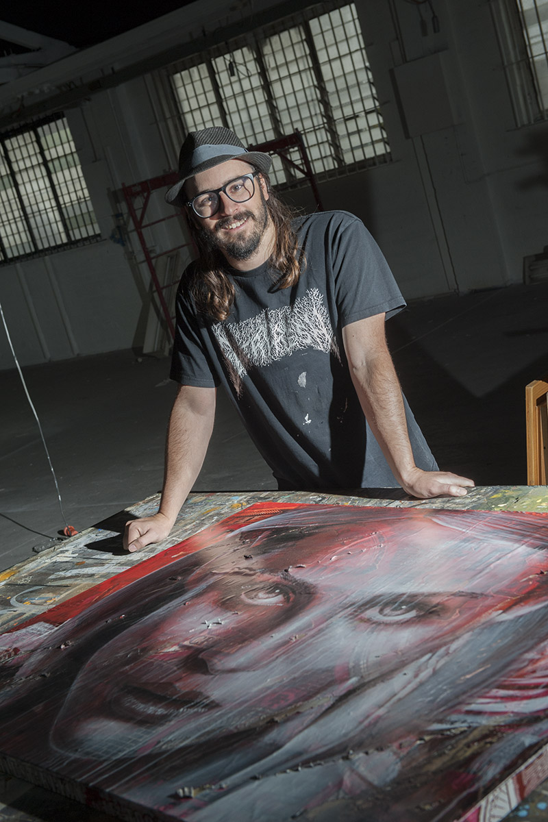 Rone in his new Collingwood studio