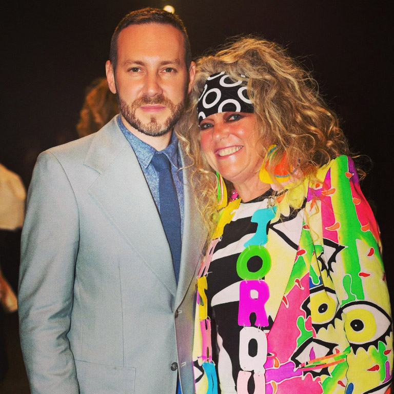 (L-R) Stylist Philip Boon & Jenny Bannister