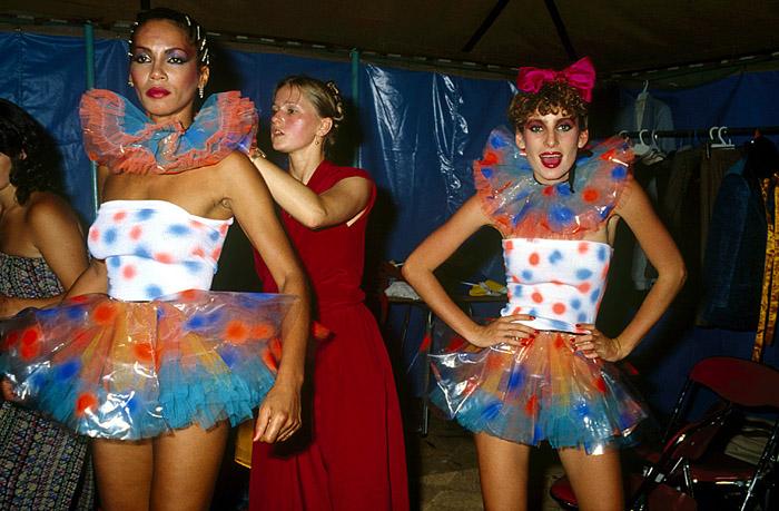 Jenny Bannister Plastic Tutus, Big Top Sportsgirl Parade 1979. Photograph by Rennie Ellis