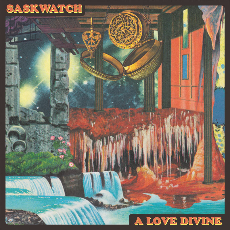 "Saskwatch  ""A Love Divine"" single cover."
