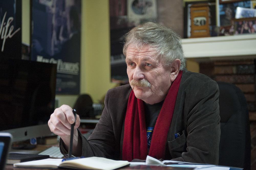 Film maker Paul Cox in his Albert Park office