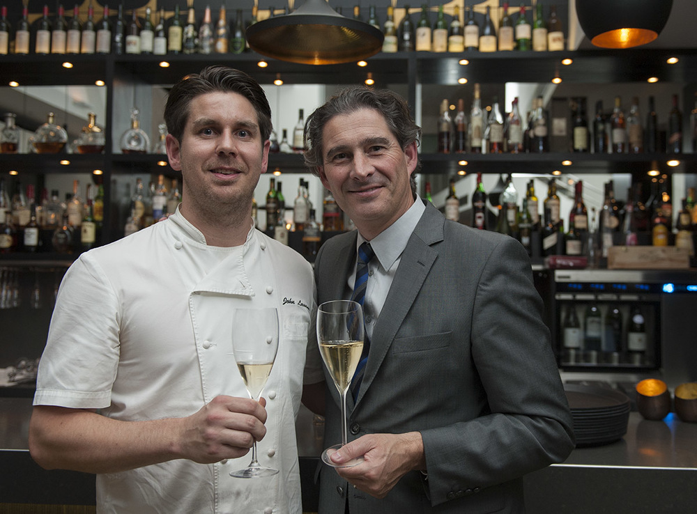 Chef John Lawson with   Benoit Gouez