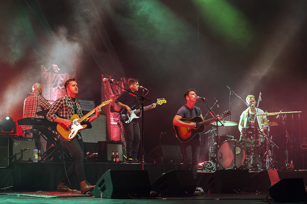 Boy & Bear on stage at the Palais Theatre last Friday