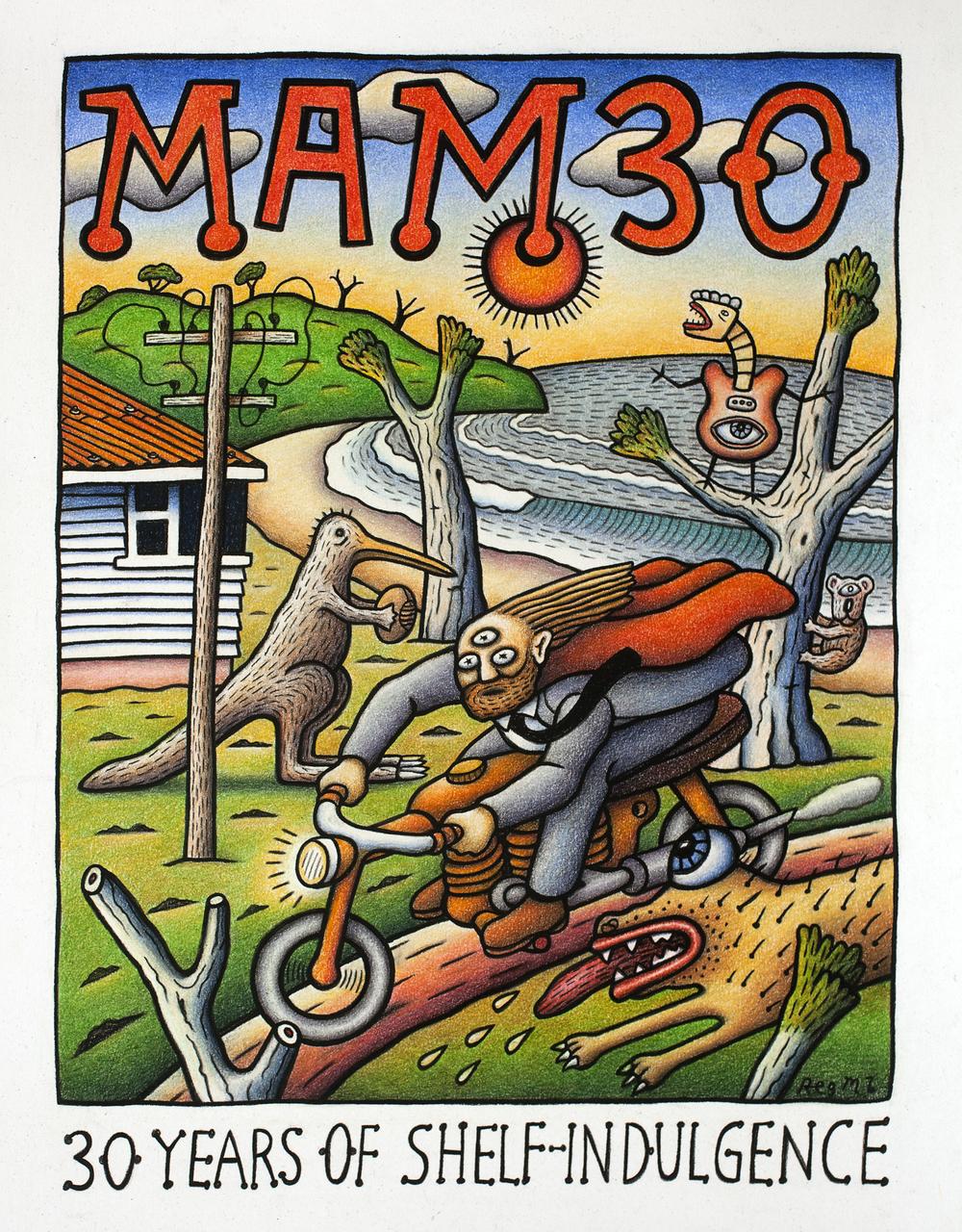 Mambo: 30 Years of Shelf-Indulgence artwork by Reg Mombassa