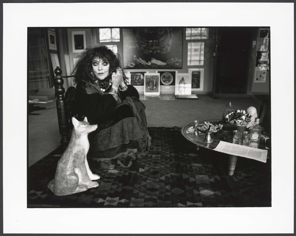 Vali Myers in her studio in the Nicholas Building, 1997, photographed by Liz Ham - Courtesy of the State Library Victoria