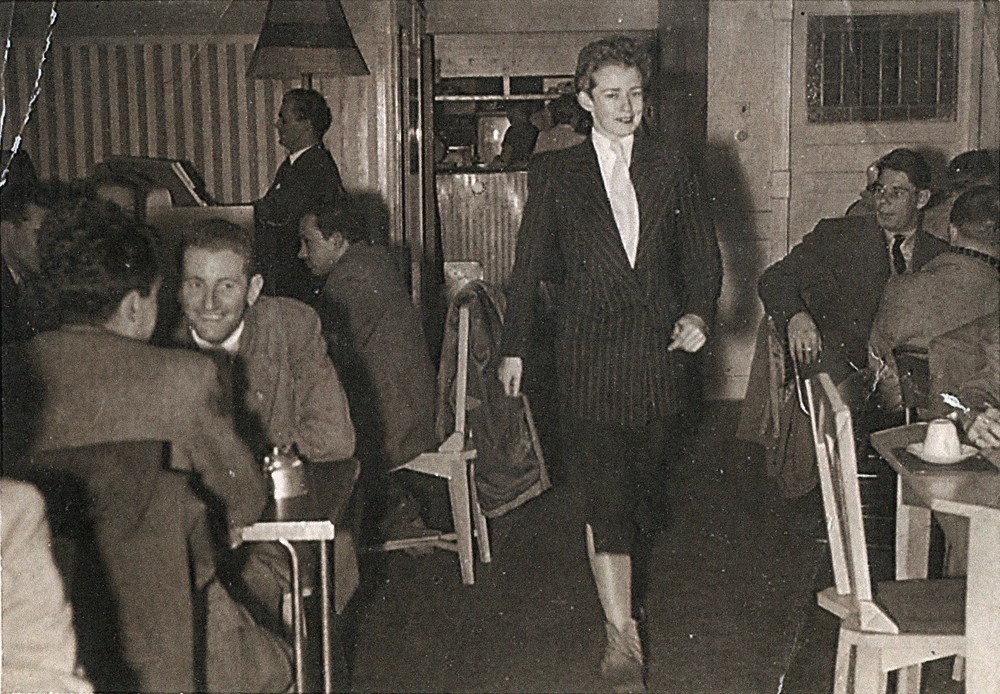 Val Eastwood at Val's Coffee Lounge, Unknown photographer c. 1950s - Courtesy of the Australian Lesbian and Gay Archives
