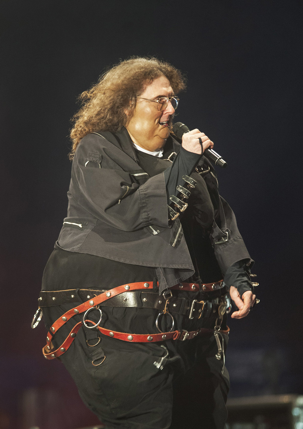 'Wei  rd   Al' Yankovic performs on night one of the 2015   Falls Festival at Mt Duneed Estate - image courtesy of Kirsty Umback