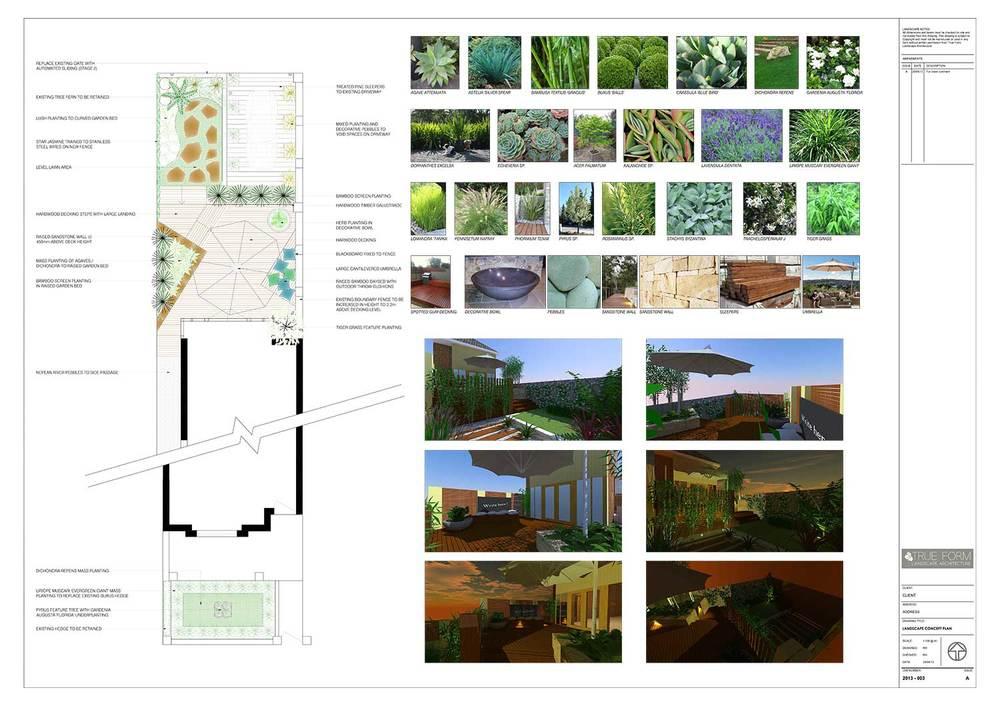 Concept plan true form landscape architecture for Home design garden concept