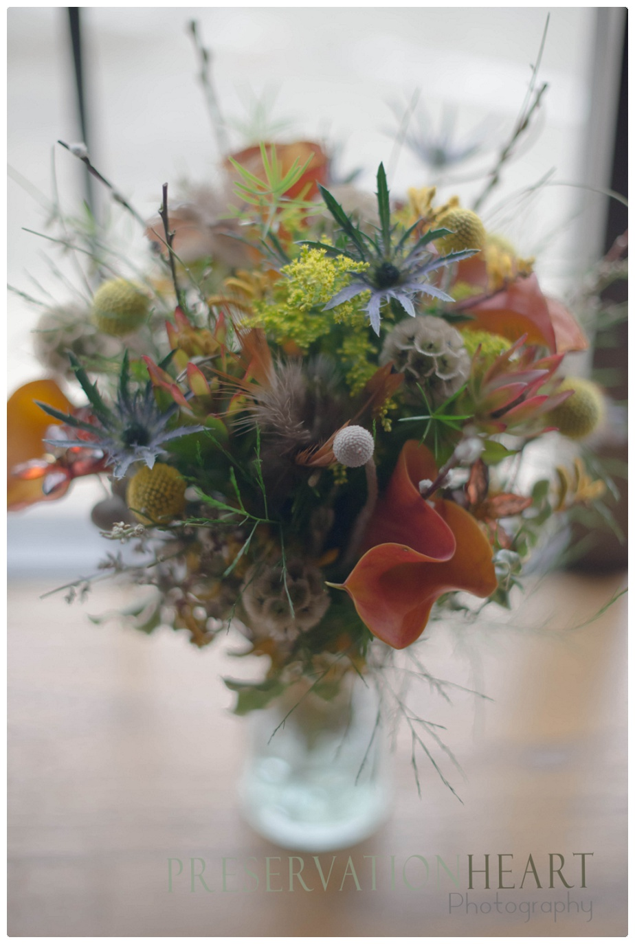 Textures like crazy in this feathery woodland inspired bouquet - I see forest wedding all over this one!