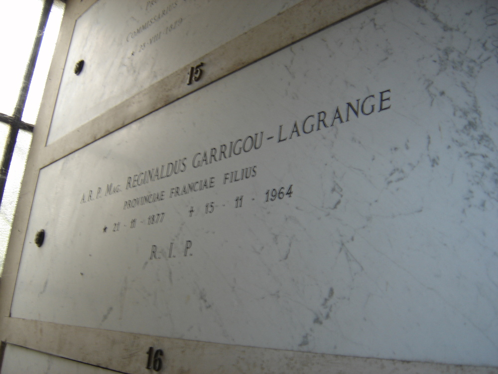 The tomb of Fr. Garrigou-Lagrange