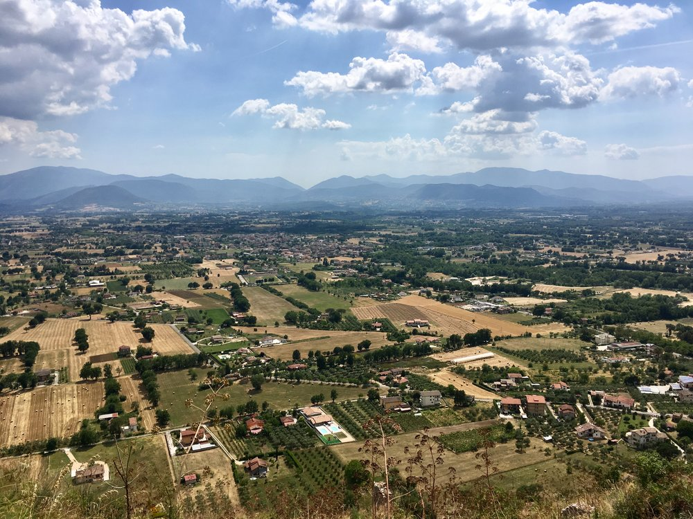 view from the ruins of Aquinas' castle in Roccasecca (his birthplace) Photo credit: ryan Brady