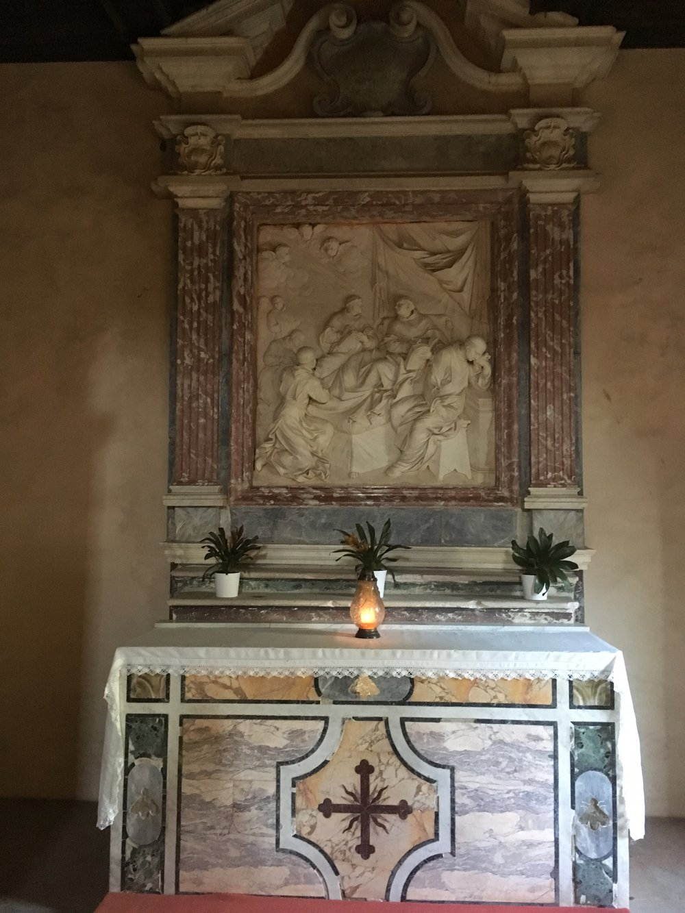 the altar of the abbot's quarters of the fossanova monastery, where aquinas spent his last days. Photo credit: ryan brady