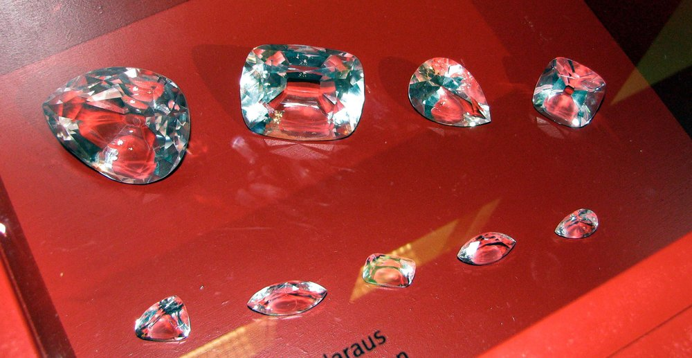 The nine stones cut from the Cullinan diamond