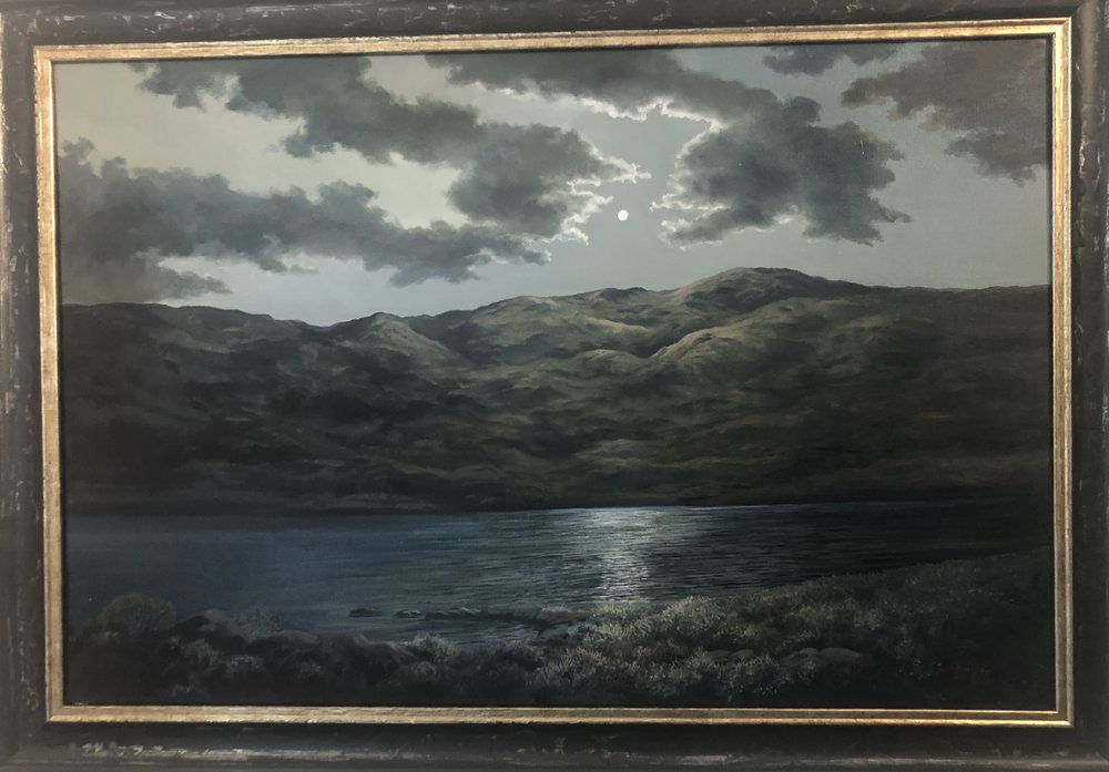 """Loch Tell"" 73x48cm (approx) Oil on canvas  Keith McAllister"