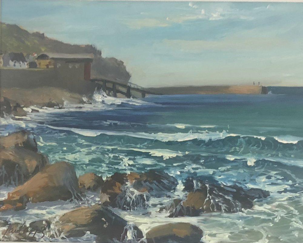 Cornish Coast 24x20cm (approx) Oil on canvas  Paul Apps