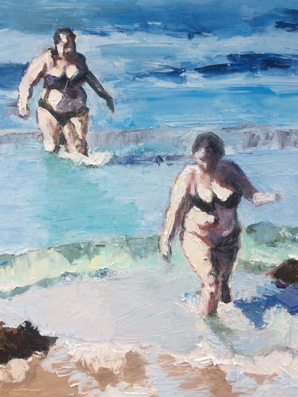 """Bathers"" 74x62cm (approx). Oil on canvas  Rosy Modet"