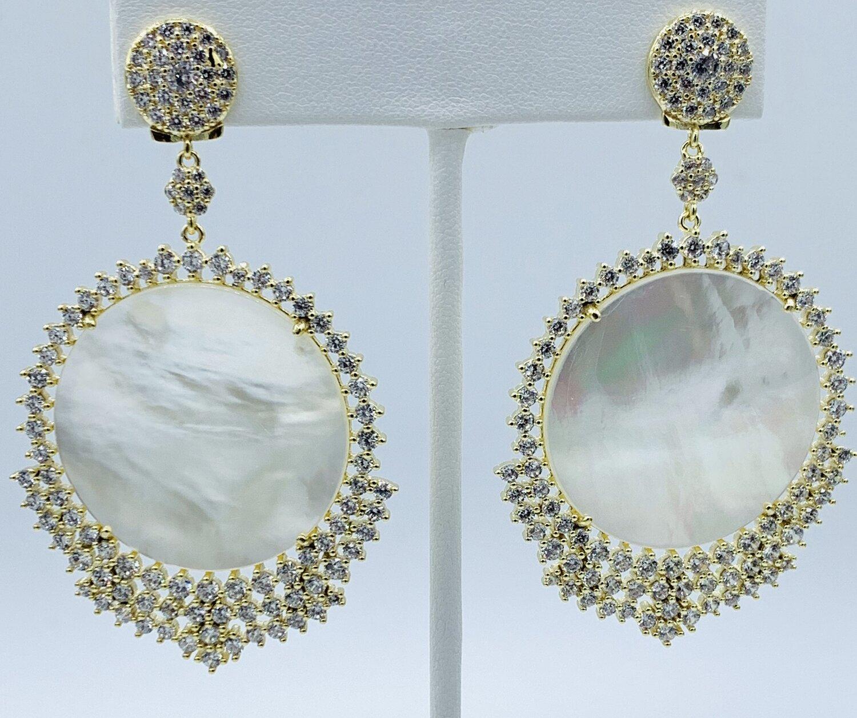 Large drop statement earrings
