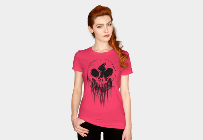 Feathered Skull Women's Tee   The feathered skull can be used to reach across dimensions into the world of Kōnazon. Just be very careful about who you summon.