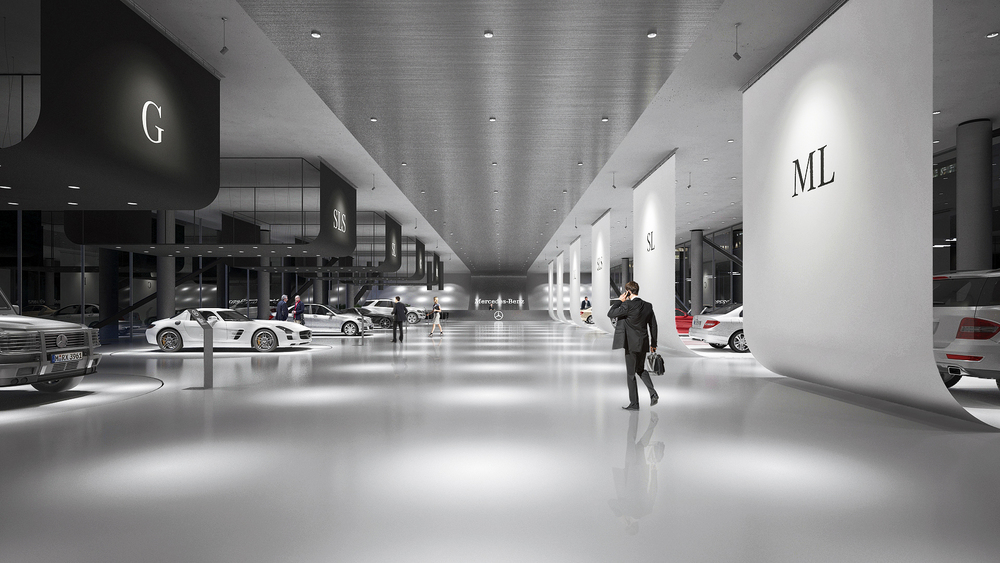 Mercedes Benz Showroom Design A Masow